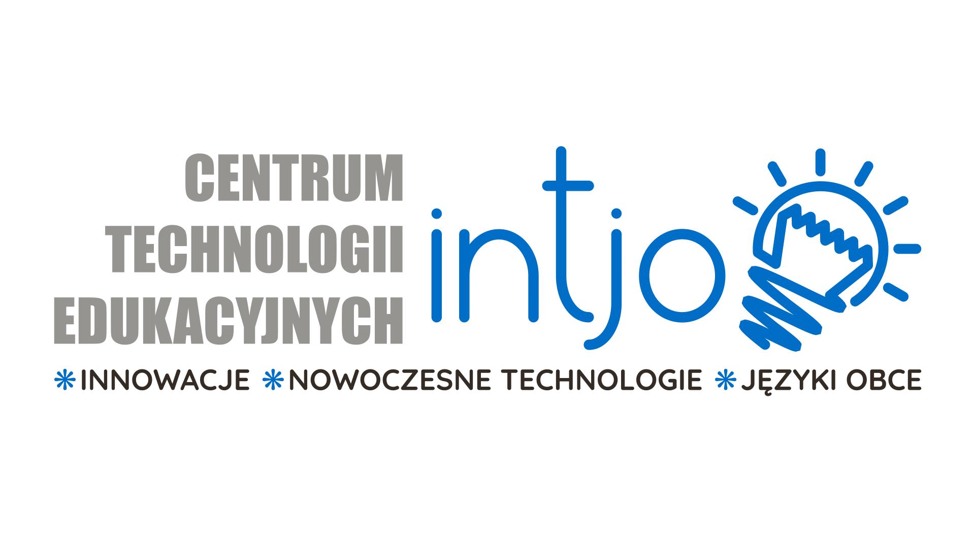 """Logo Centrum Technologii Edukacyjnych """"INTJO """" Spółka z ograniczoną odpowiedzialnością"""