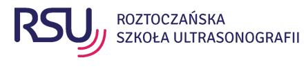 Logo Roztoczańska Szkoła Ultrasonografii Jan Mazur, Wiesław Jakubowski S.C.