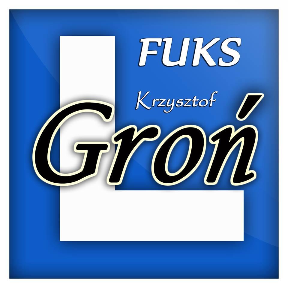 """Logo MAŁOPOLSKIE CENTRUM SZKOLENIA KIEROWCÓW """"FUKS"""" KRZYSZTOF GROŃ"""