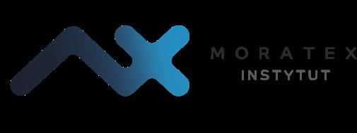 """Logo Instytut Technologii Bezpieczeństwa """"MORATEX"""""""