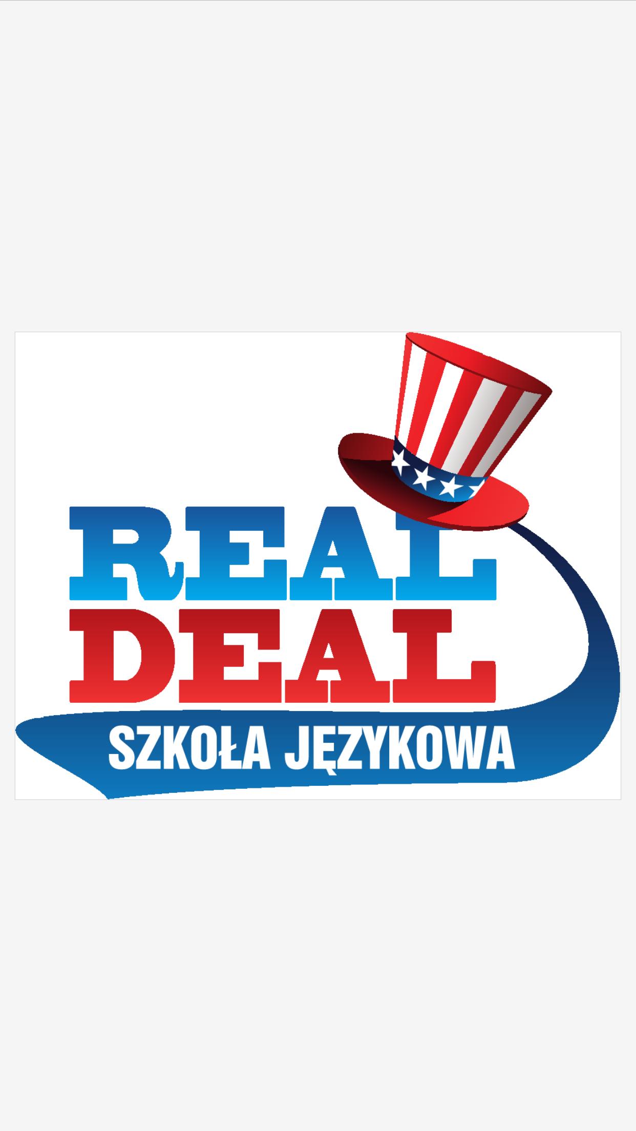 Logo REAL-DEAL SZKOŁA JĘZYKOWA Dariusz Łuksza