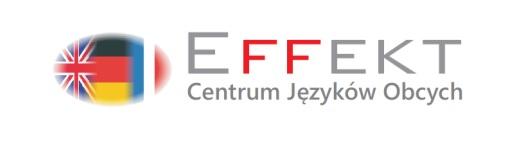 Logo Centrum Języków Obcych EFFEKT Magdalena Kotowicz Aleksandra Gromadzka spółka cywilna