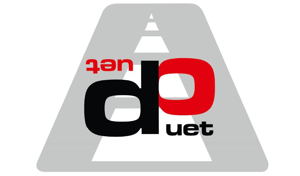 """Logo Przedsiębiorstwo - Produkcyjno - Handlowo - Usługowe """"DUET"""" Robert Bęben"""