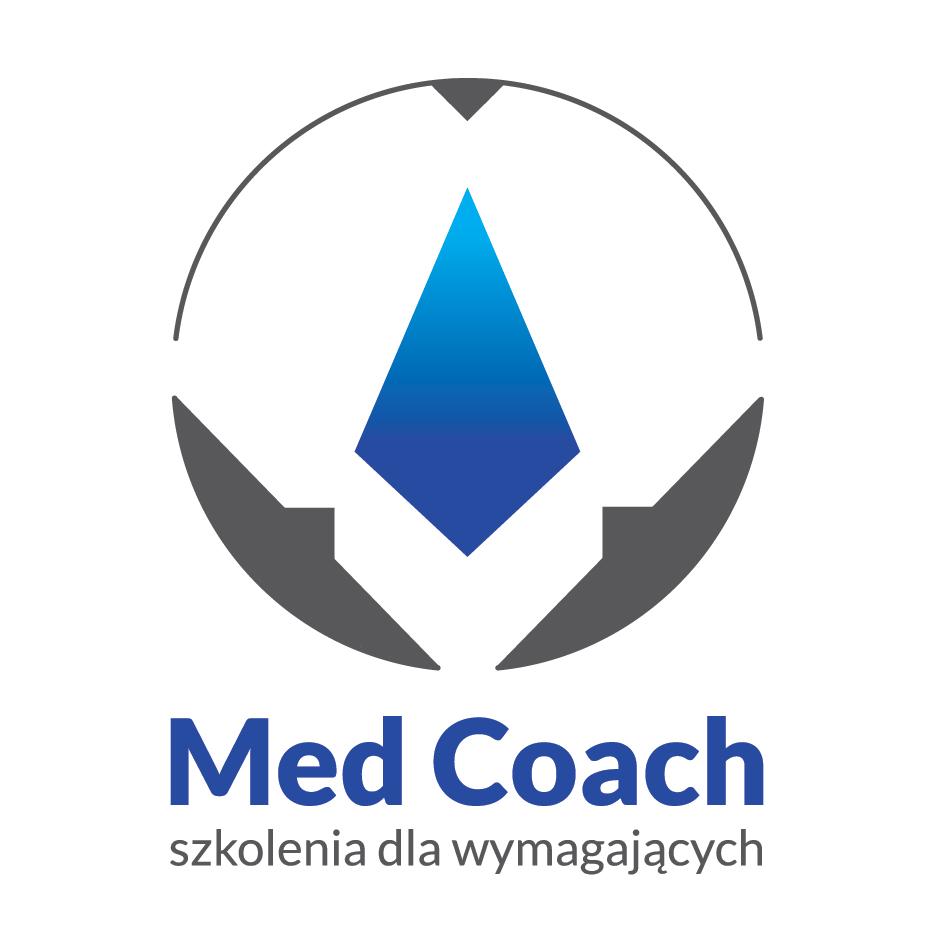 """Logo Niepubliczna Placówka Kształcenia Ustawicznego """"MED COACH"""""""